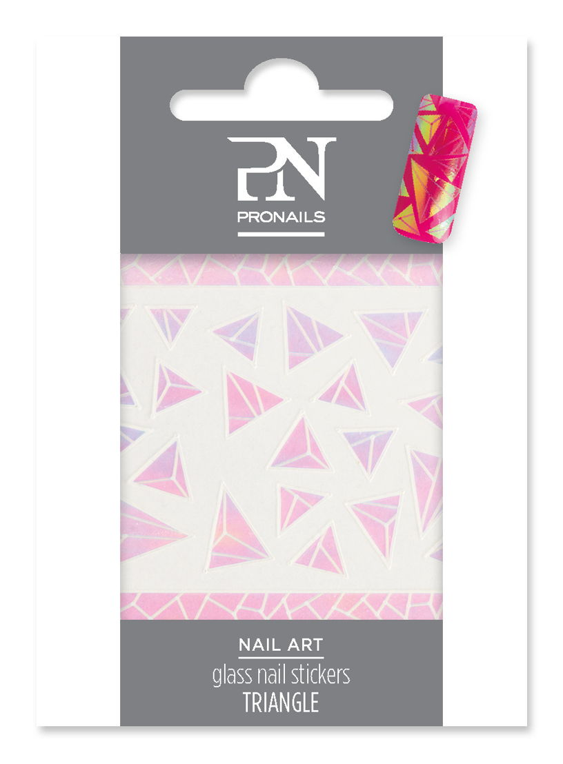 Glass Nail Stickers Triangle