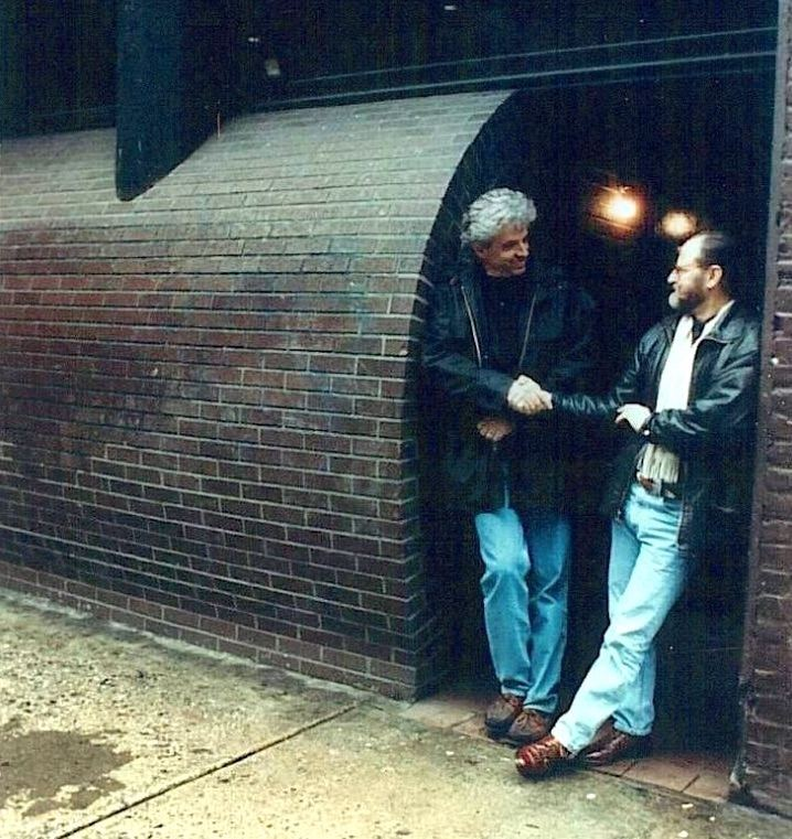 John Storyk (left) with Engineer/Producer Eddie Kramer in the original entrance to Electric Lady Studios