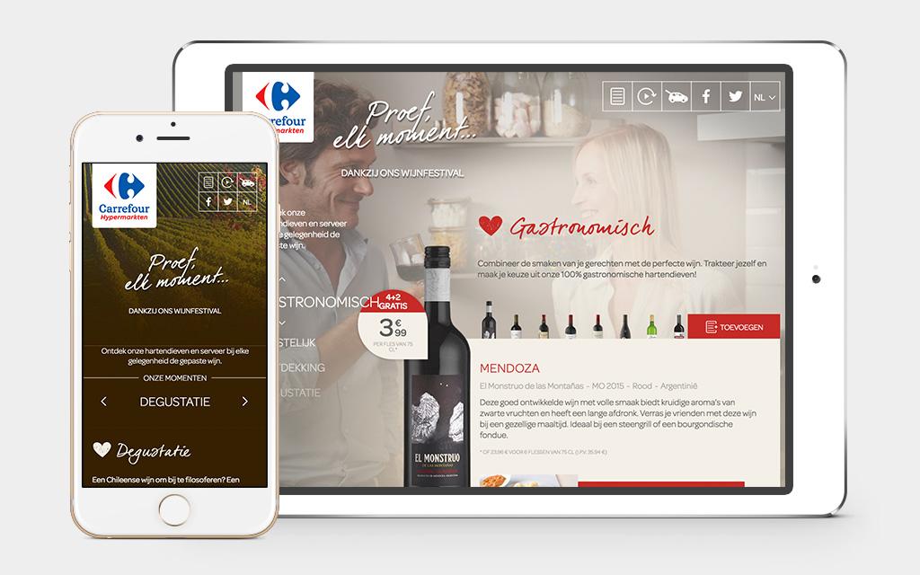 Bekijk de wijnsite op smartphone en tablet