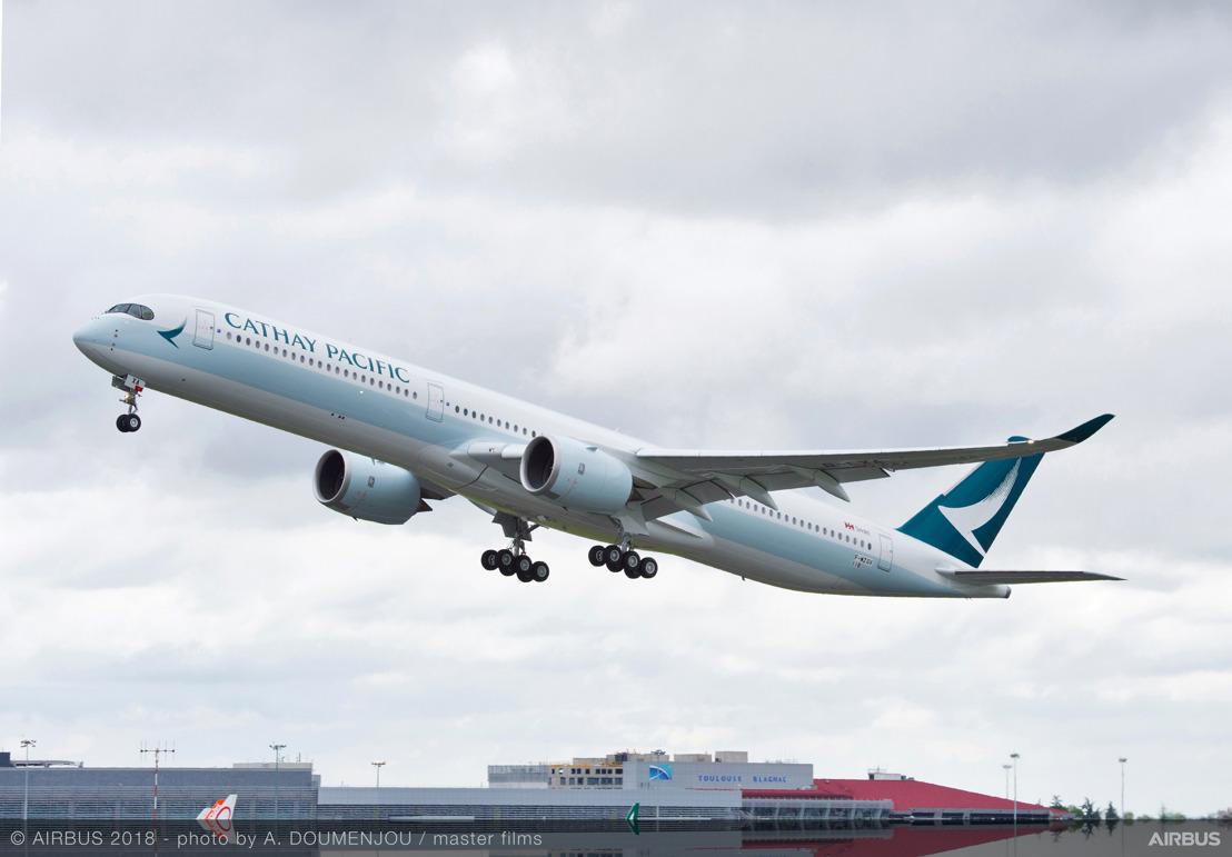 國泰航空將採用航空生物燃料 接收全新客機返港