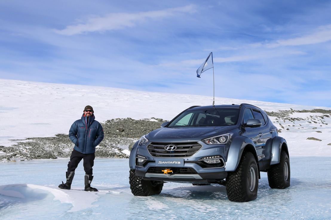 Sur les traces de Shackleton: un Hyundai Santa Fe conquiert l'Antarctique, avec l'arrière petit-fils de Sir Ernest Shackleton au volant