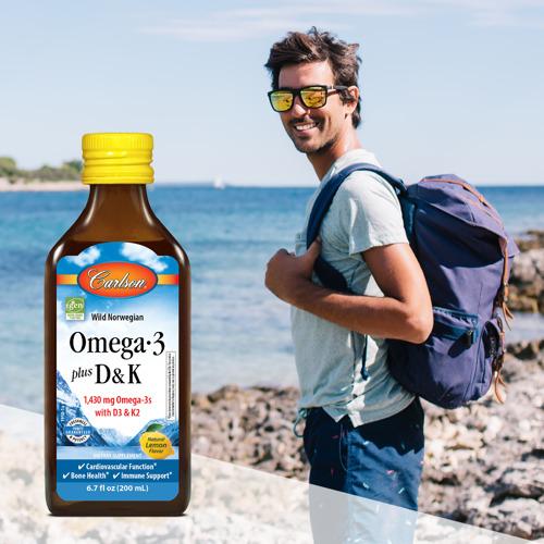 Carlson Introduces a Liquid Blend of Omega-3s, Vitamin D3, and Vitamin K2 as MK-7