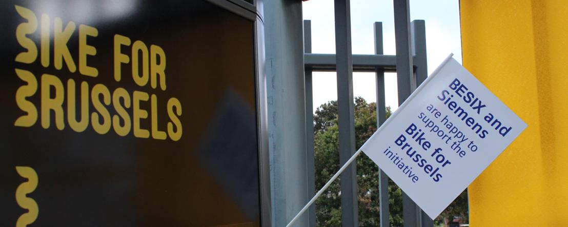 Siemens et BESIX livrent la première borne de comptage de vélos à Bruxelles