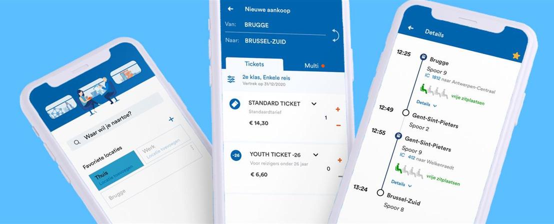 NMBS lanceert haar nieuwe mobiele app
