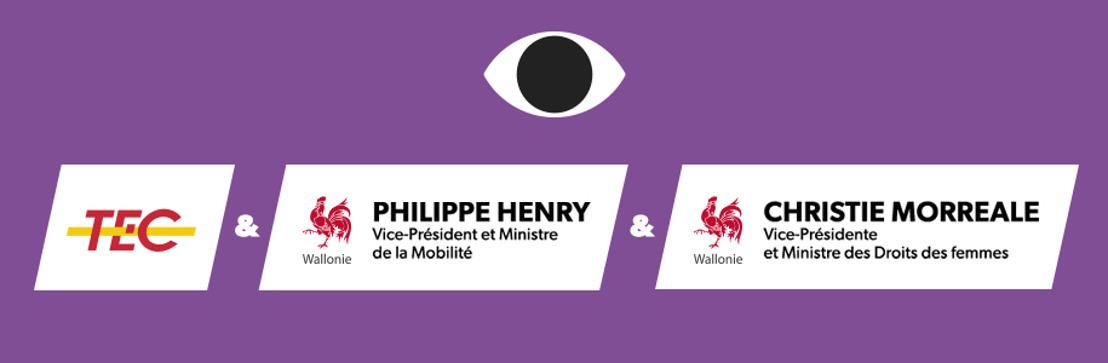 La Wallonie et le TEC lancent une campagne contre le harcèlement sexiste dans l'espace public.