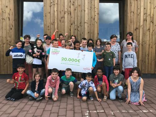 De gemeentelijke basisschool van Sugny wint de Luminus Energy Challenge en krijgt 20.000 euro om haar ecologische voetafdruk te verminderen