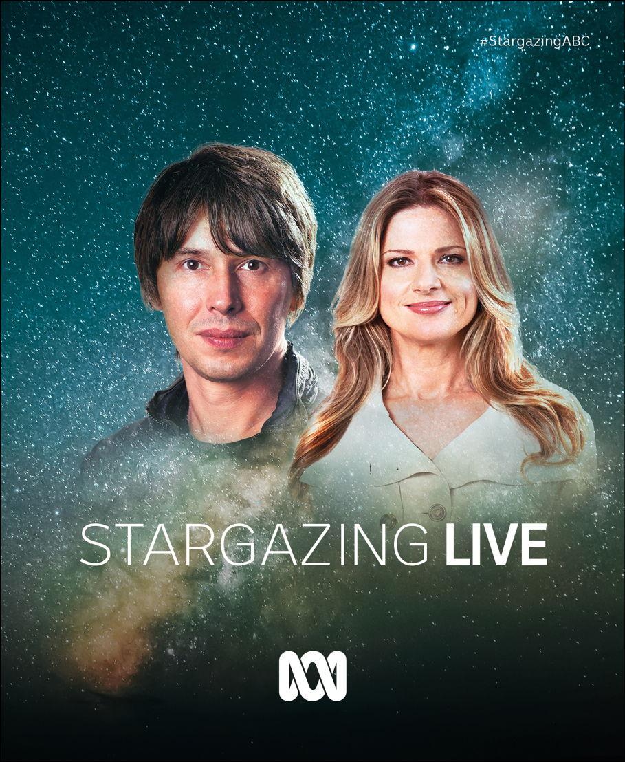 Professor Brian Cox and Julia Zemiro, hosts of ABC's Stargazing Live 2018