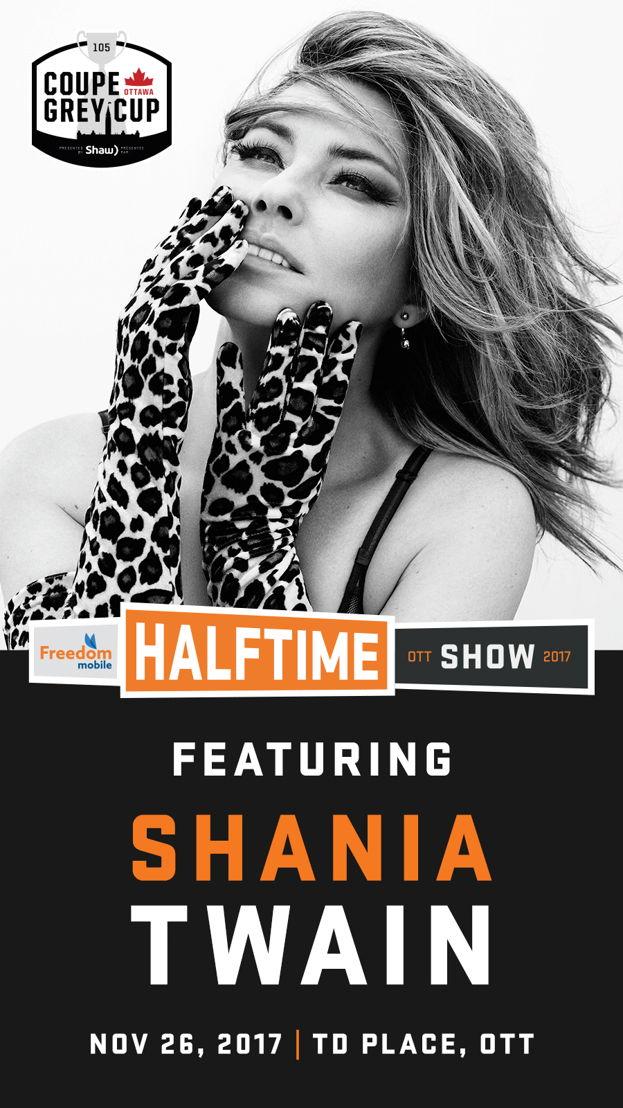Freedom Mobile Halftime Show artist Shania Twain