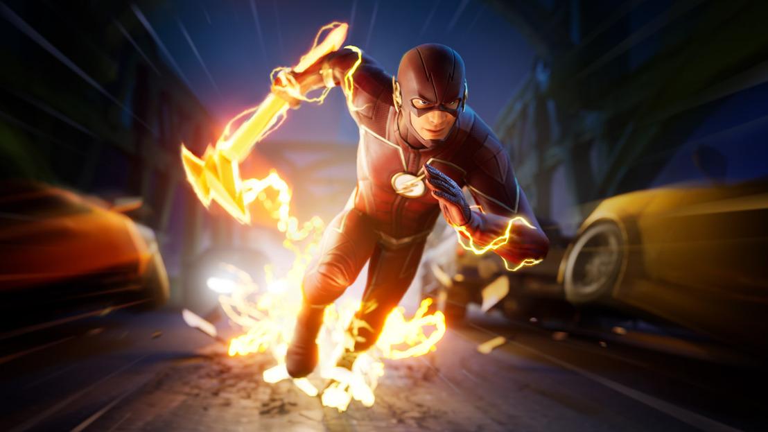 Flash de DC acelera para unirse a la caza en Fortnite
