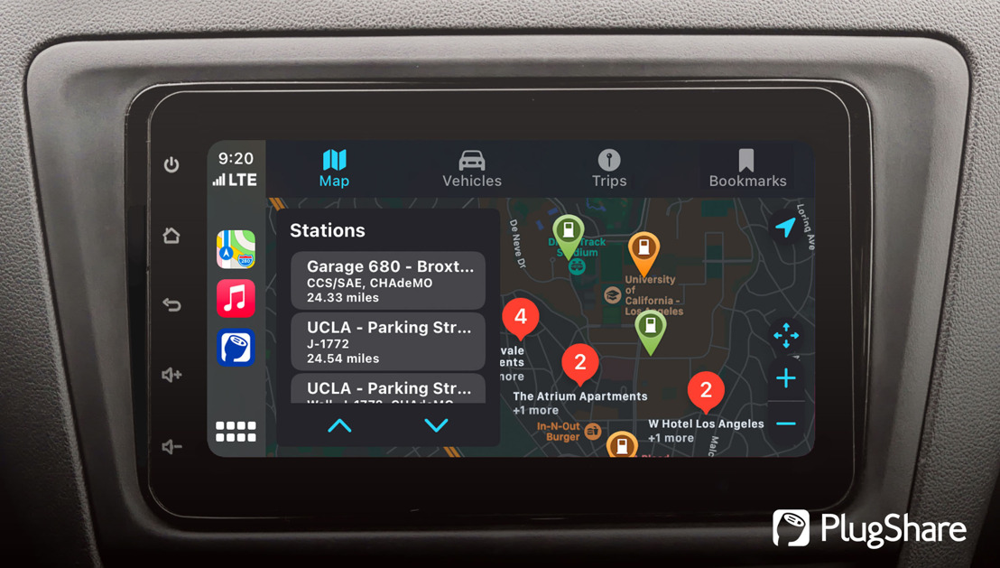 PlugShare, the World's Favorite App for Electric Vehicle Drivers, Is Now Compatible with Apple CarPlay