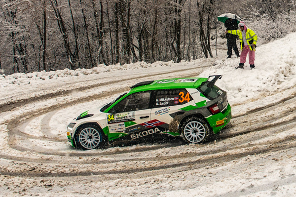 Preview: Rallye Monte-Carlo: ŠKODA FABIA Rally2 evo driver Andreas Mikkelsen among favourites in WRC2