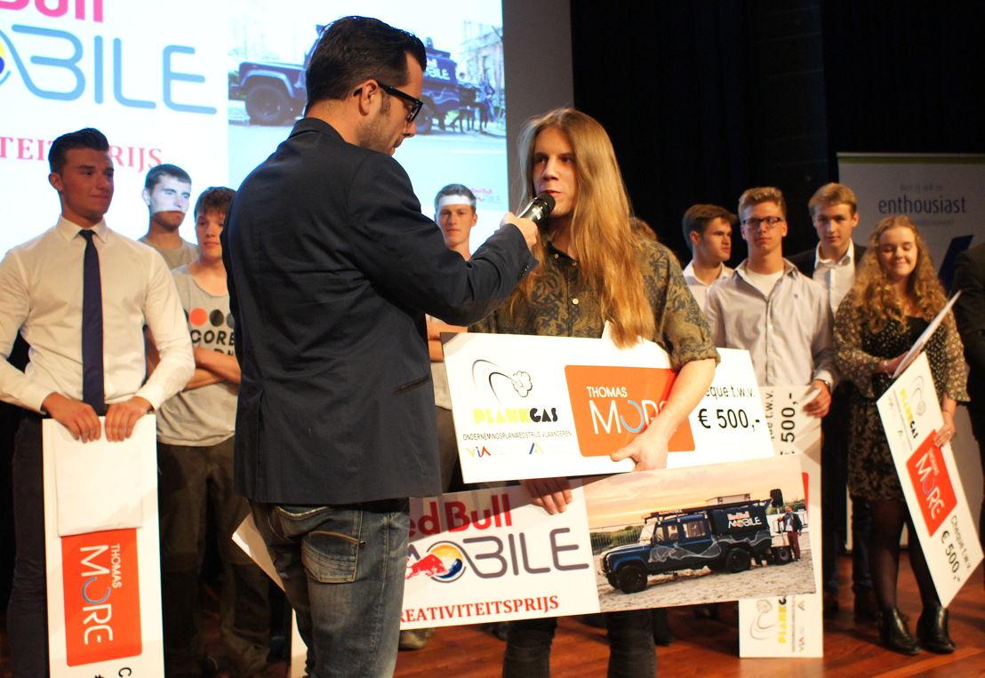 Winnaar van de creativiteitsprijs Mikey Engelen