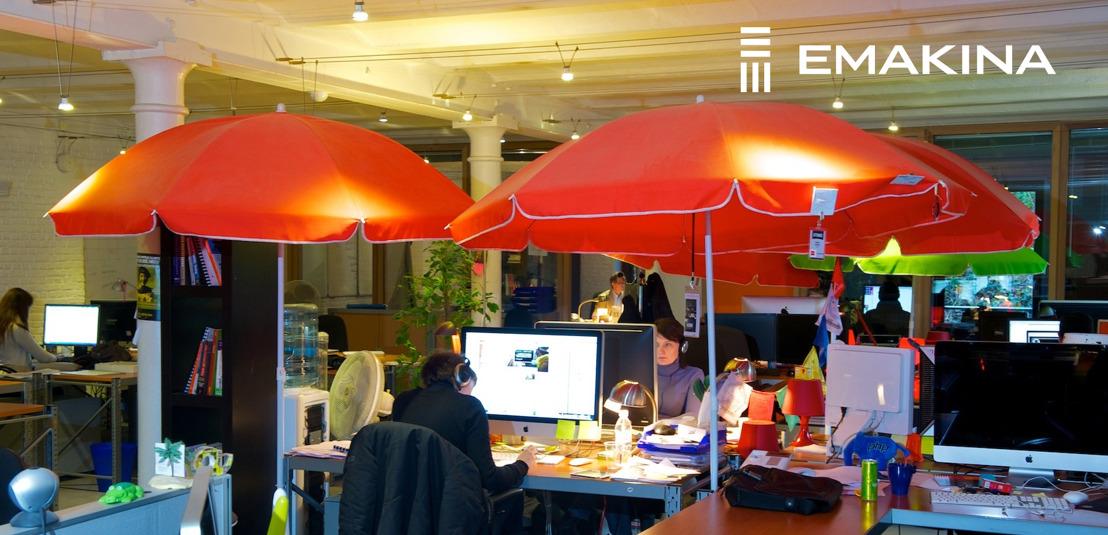 Emakina.BE accueille une douzaine de nouveaux clients
