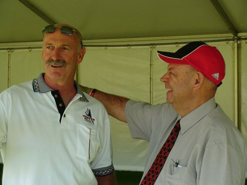"""Dennis Lillee with Barry """"Nugget"""" Rees"""