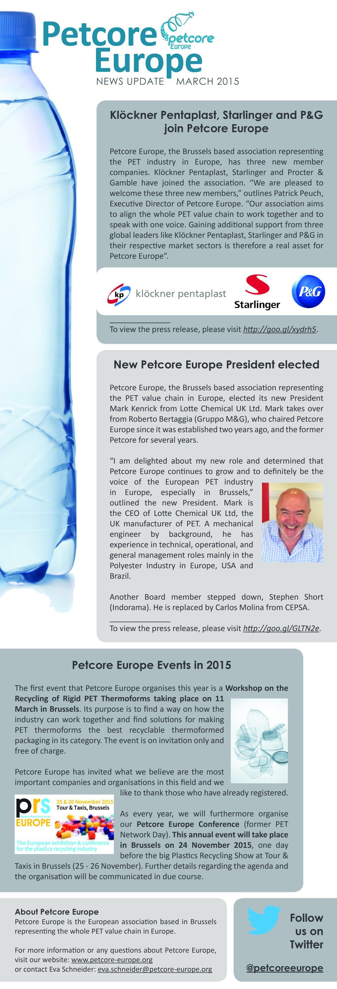 Petcore Europe News Update - March 2015