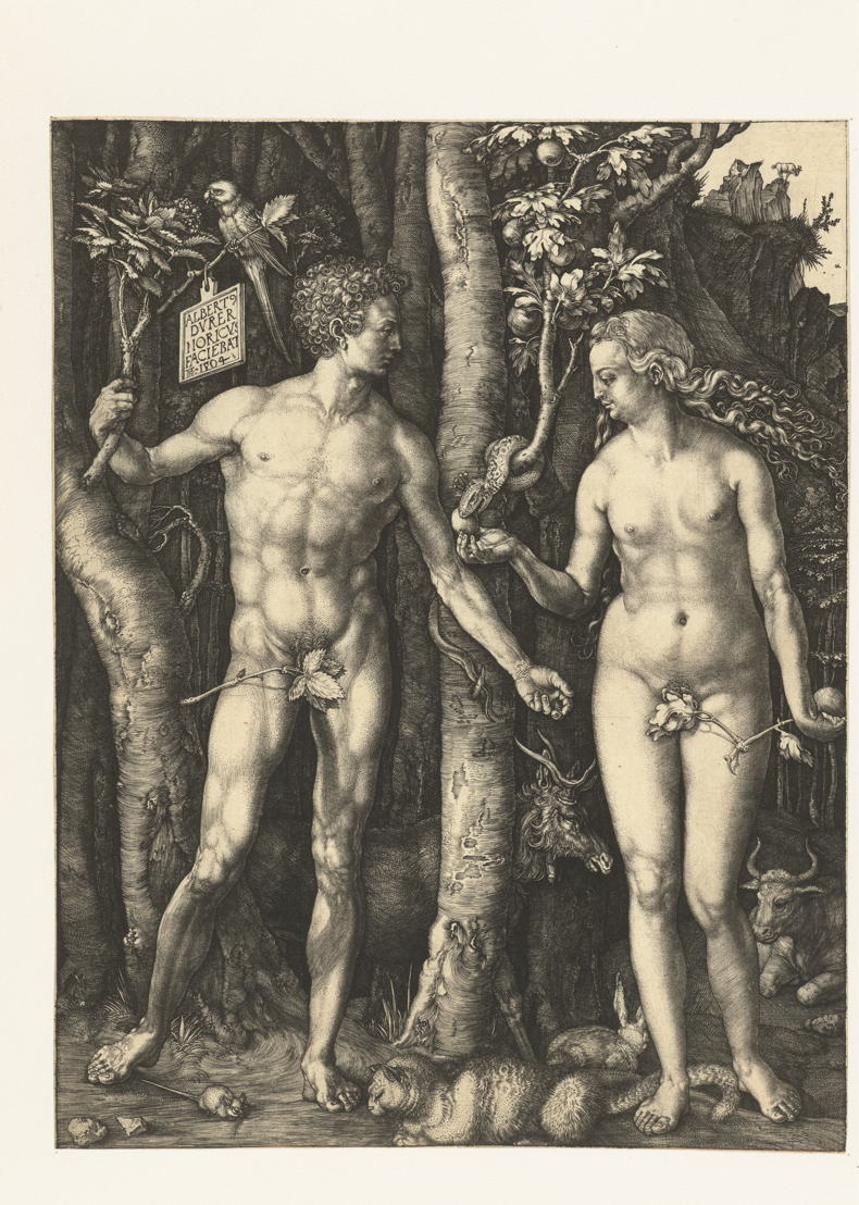 In Search of Utopia © Albrecht Dürer, The Fall of Man, Nuremberg, 1504. Amsterdam, Rijksmuseum, Rijksprentenkabinet.