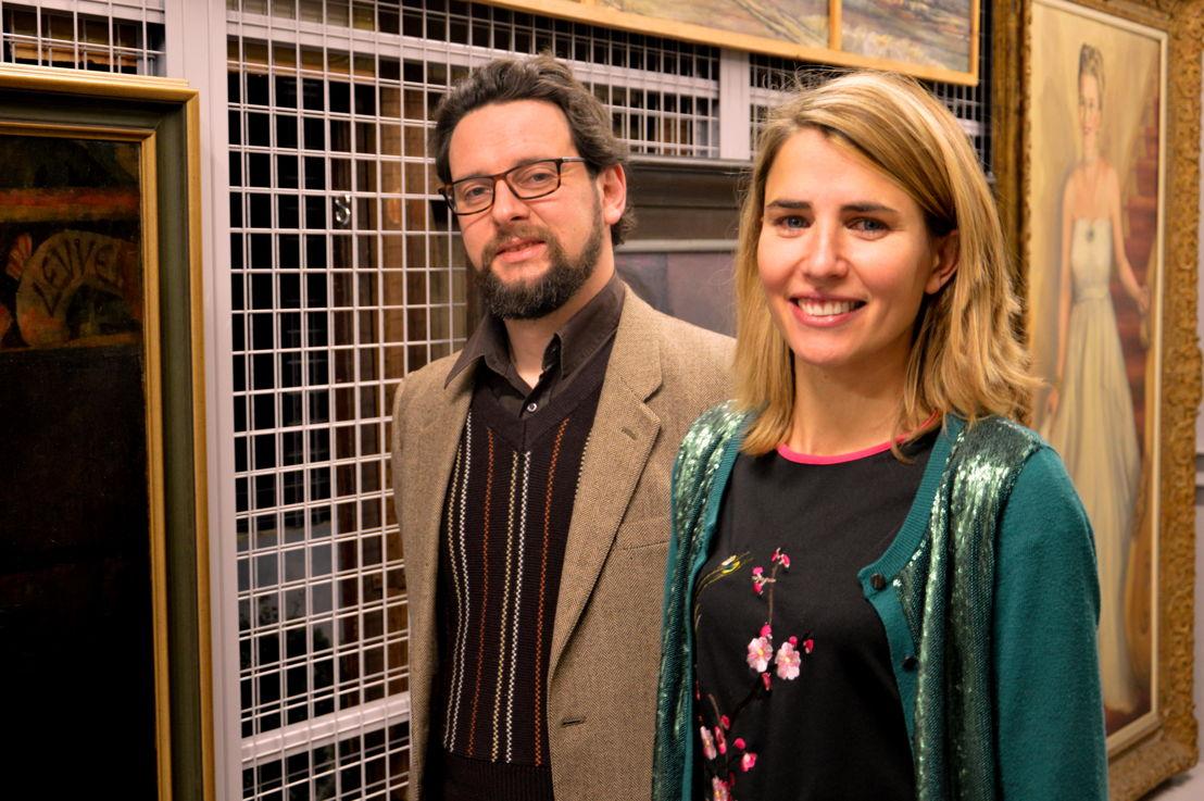 Peter Carpreau (Conservator M-Museum Leuven) &amp; Isabel Lowyck (Afdelingshoofd Publiekswerking)<br/>Foto (c) Annelies Evens