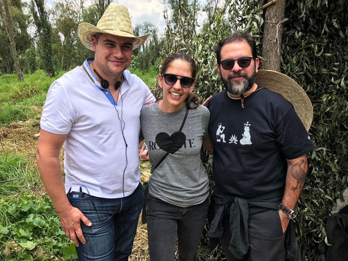 Dante Ferrero, Bertha González Nieves y Enrique Olvera