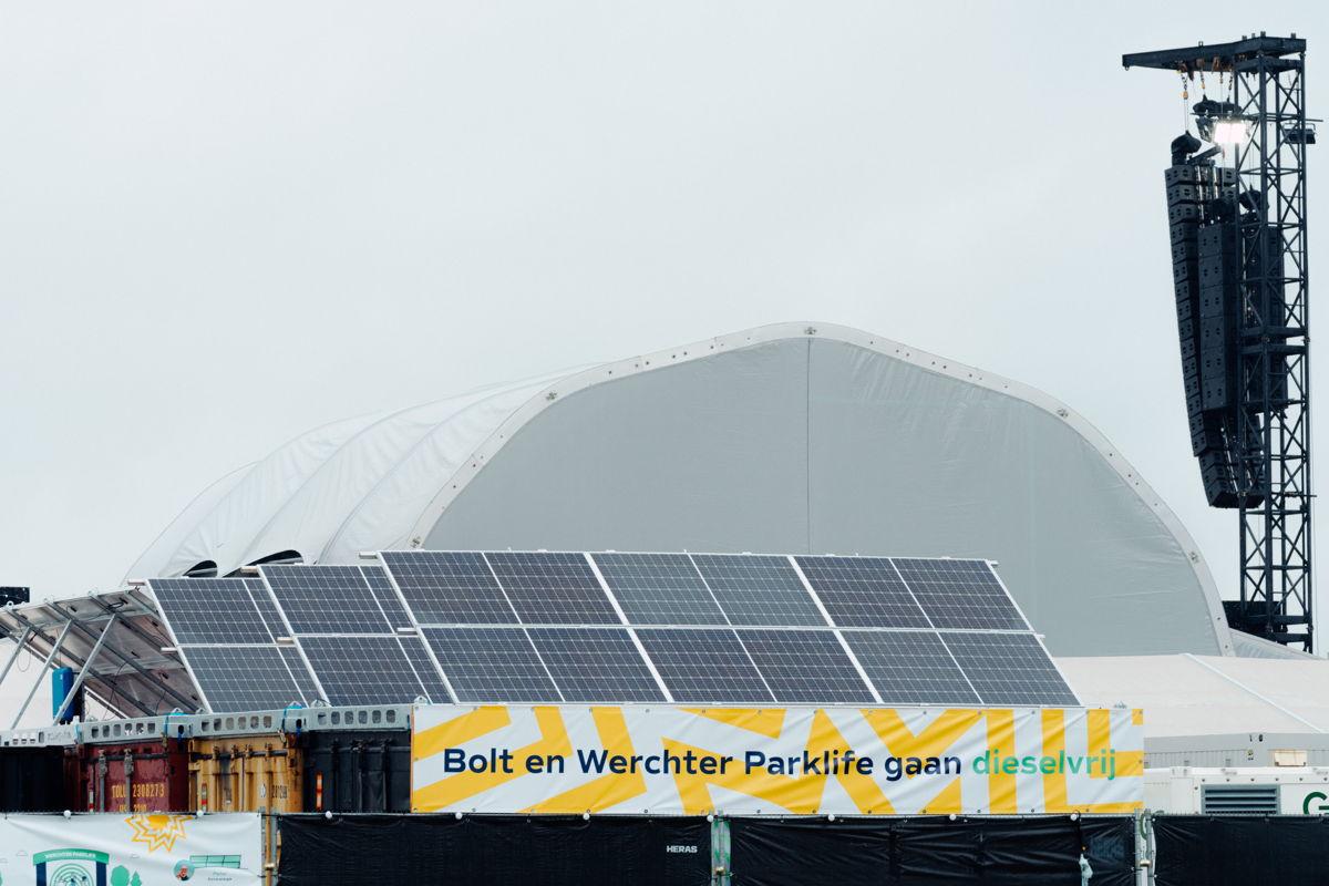 De installatie van Bolt op Werchter Parklife. (Copyright: Illias Teirlinck)