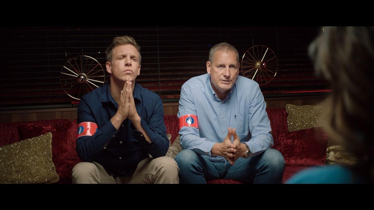 Gert Verhulst & James Cooke in het flauwe Gert Late Night - The Movie