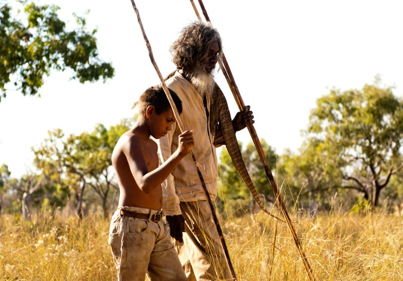 Satellite Boy, Cameron Wallaby as Pete and Davaid Gulpilil as Jagamarra