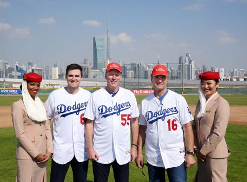 Home run at the Emirates Airline Dubai Little League Park as the LA Dodgers strike a visit