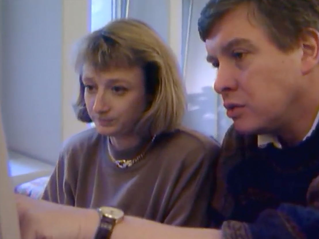 Martine Tanghe en Dirk Sterckx in 1991 - (c) VRT