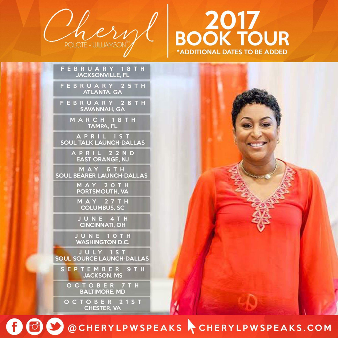 4 Time Best Selling Author Cheryl Polote-Williamson Announces Affirmed Book Tour with a hometown visit to Savannah, GA.