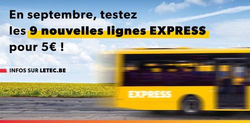 Le TEC lance 9 nouvelles lignes EXPRESS