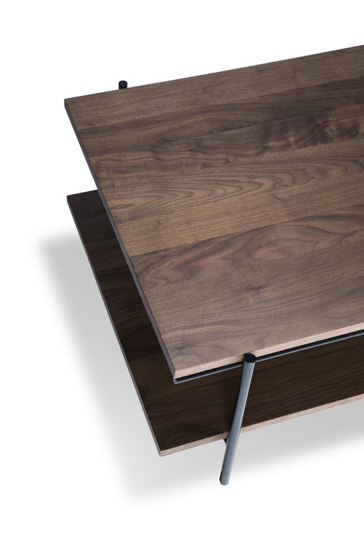 Ethnicraft Walnut Rise coffee table_detail
