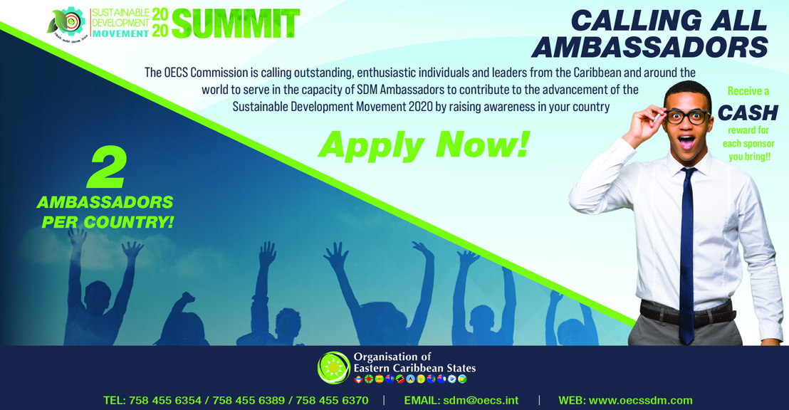 Sustainable Development Movement 2020 Summit: Call for Ambassadors