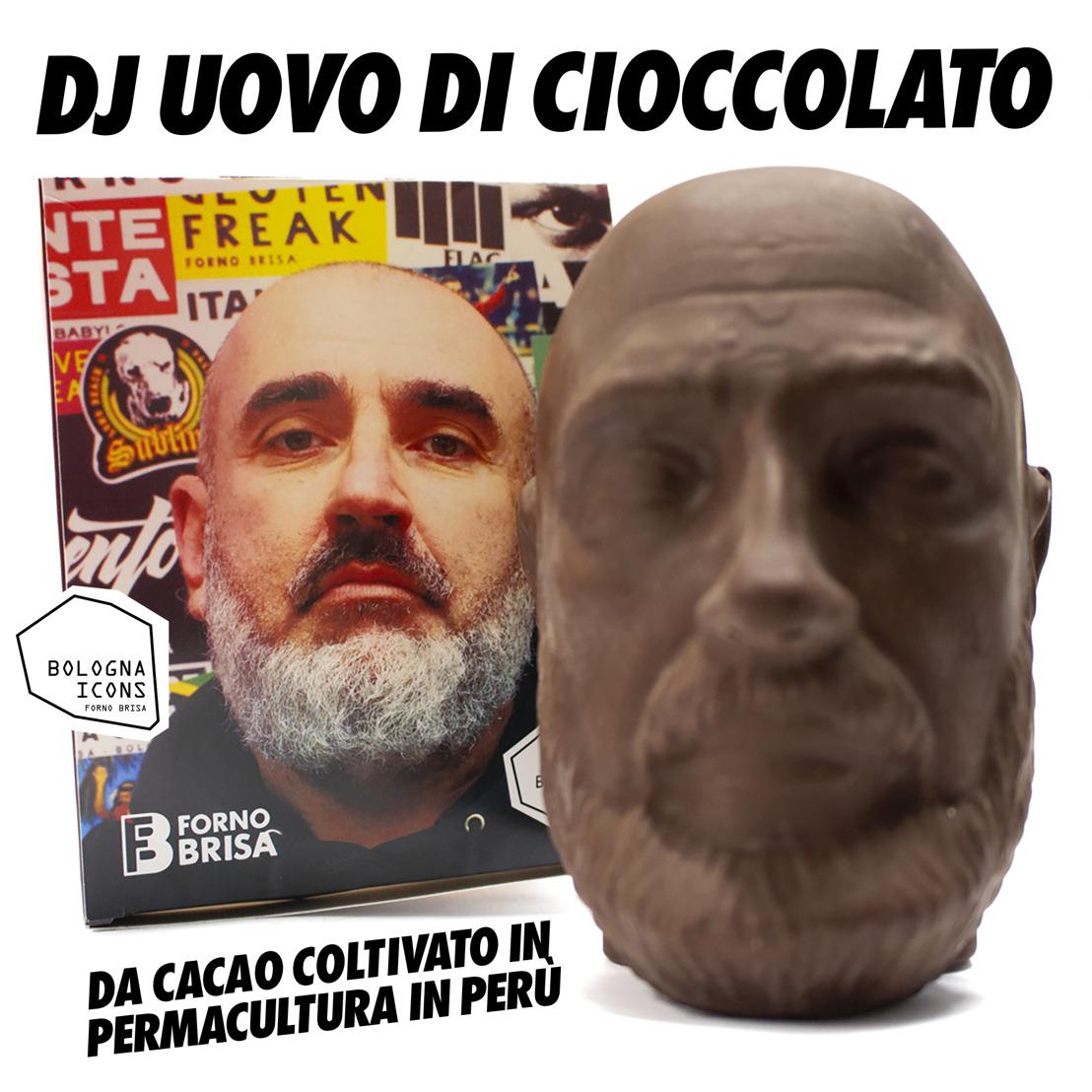 Forno Brisa dedica un uovo di cioccolato a DJ Uovo, icona della scena musicale bolognese