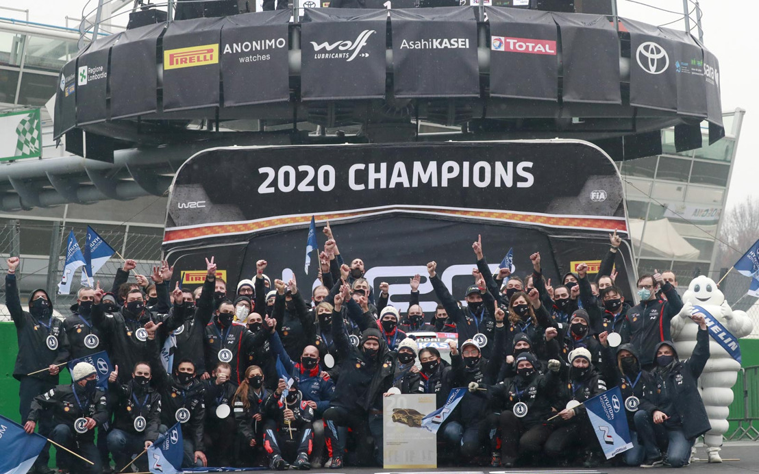 Hyundai Motorsport gewinnt erneut Herstellertitel* in der WRC