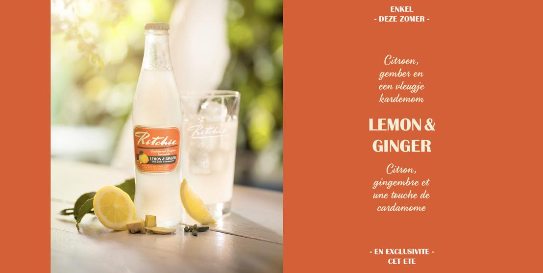 Ritchie lance une limonade de saison épicée au gingembre, au citron et à la cardamome