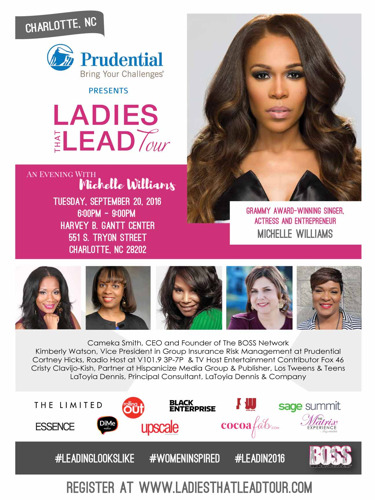 """The BOSS Network Hosts """"Ladies That Lead: An Evening with Michelle Williams"""""""