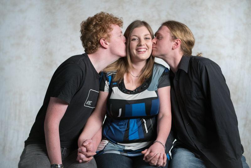Jonathan MacKenzie, Laura Rees and Zach Rees Polyamorous