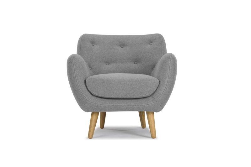Herman chair - Andie Light Grey