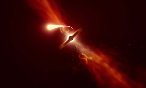 Star spotted being ripped apart by Black Hole
