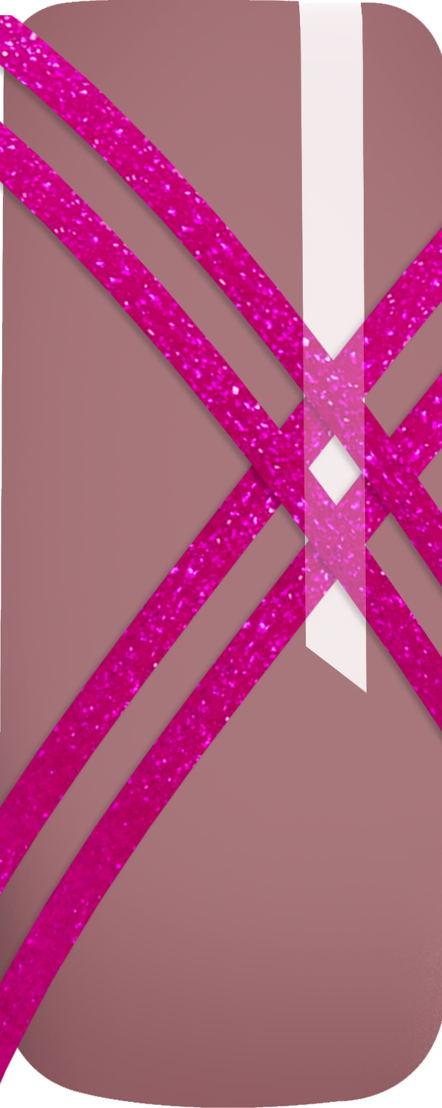 28777 striping tape Glitter Pink_Nail