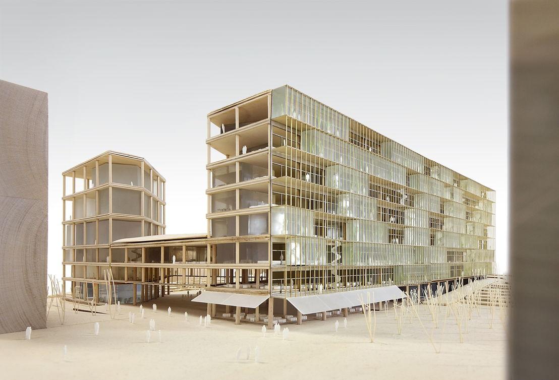 Maquette nieuw VRT-gebouw - ® Filip Dujardin - Team Vlaams Bouwmeester