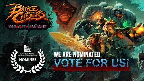 Battle Chasers: Nightwar is globally nominated