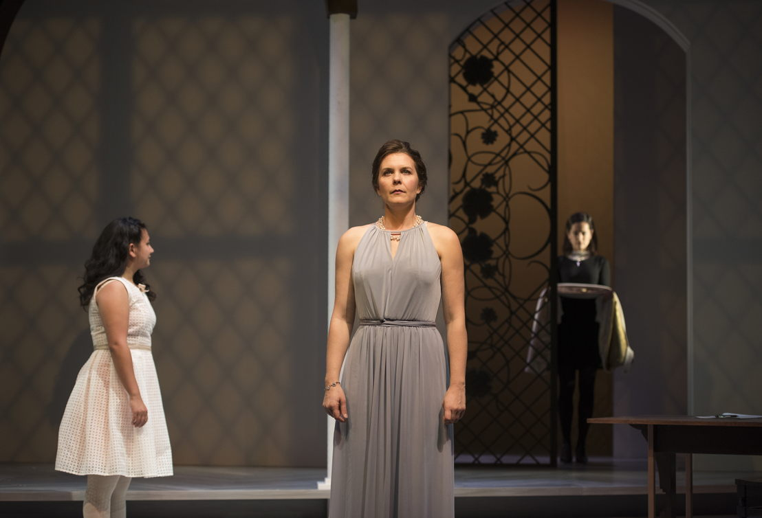 Mahalia Golnosh Tahririha, Celine Stubel and Anie Richer in The Last Wife by Kate Hennig / Photos by Emily Cooper