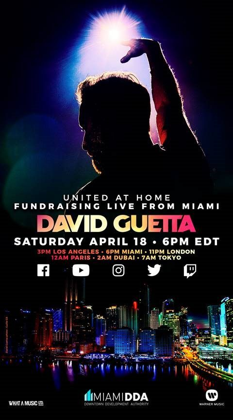 Performing live from Miami: David Guetta will share a unique DJ set this weekend