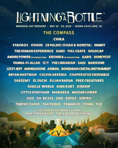 Lightning in a Bottle Announces Complete Music Lineup for Memorial Day Weekend Event at Buena Vista Lake in Southern California May 20-25