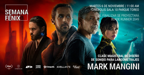 Invitacion a Clase Magistral y Proyeccion de Blade Runner