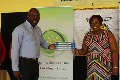 OECS Commission Donates PPE to Dame Pearlette Louisy Primary and Carmen Rene Memorial Schools
