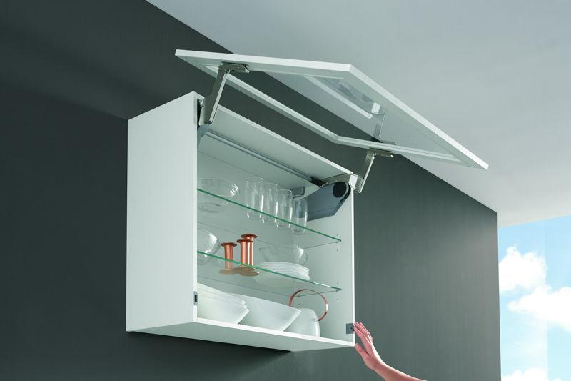 Système de porte 'abattant' avec assistance électrique en option