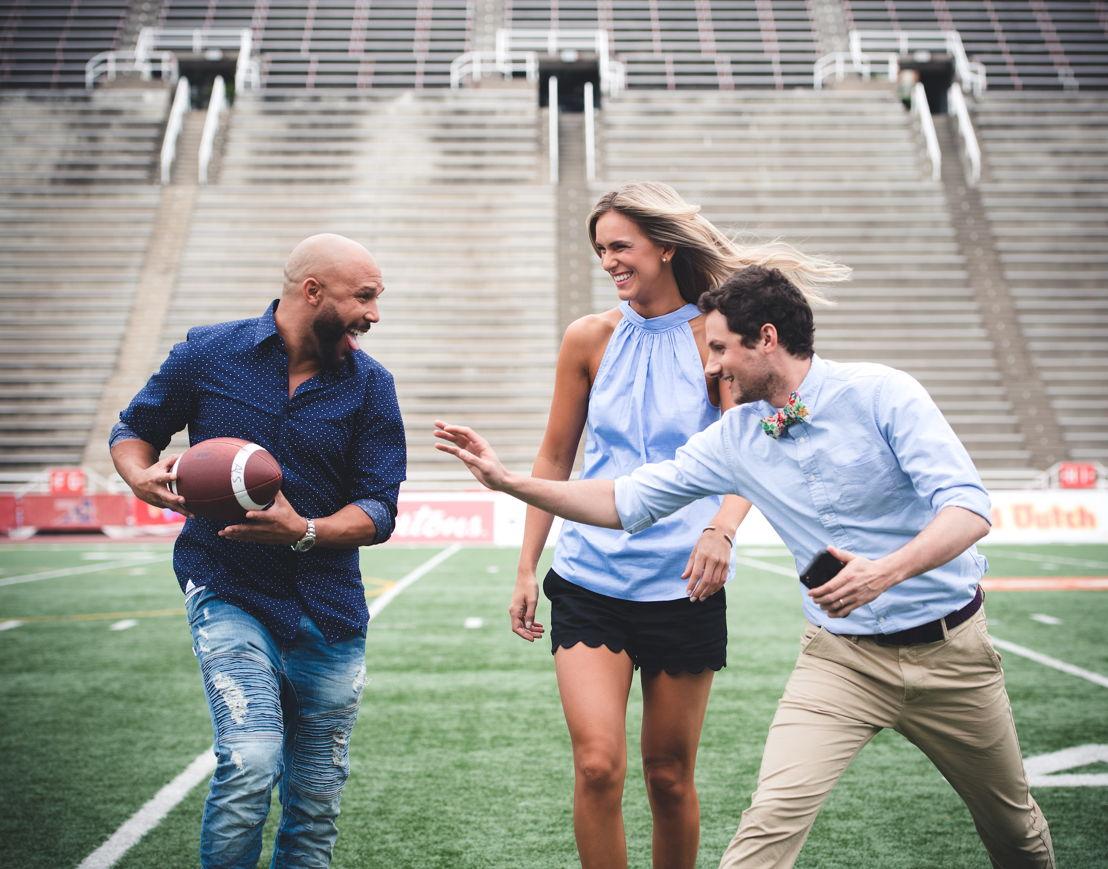 (G->D) Davis Sanchez, Brodie Lawson et Max Rosenberg. Crédit photo : Johany Jutras/LCF