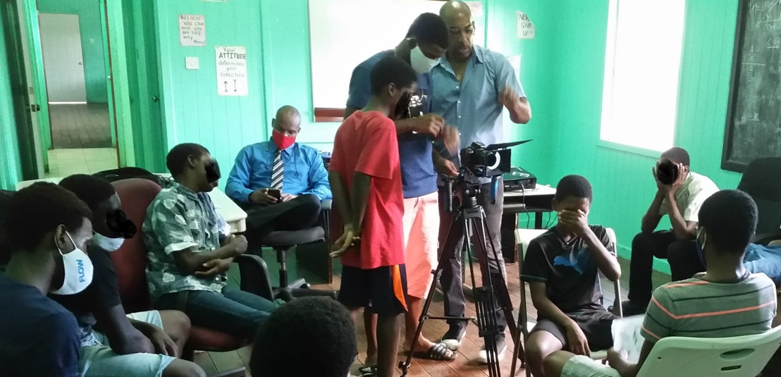 Youth at Boys Training Center get cinematography training through Juvenile Justice Reform Project
