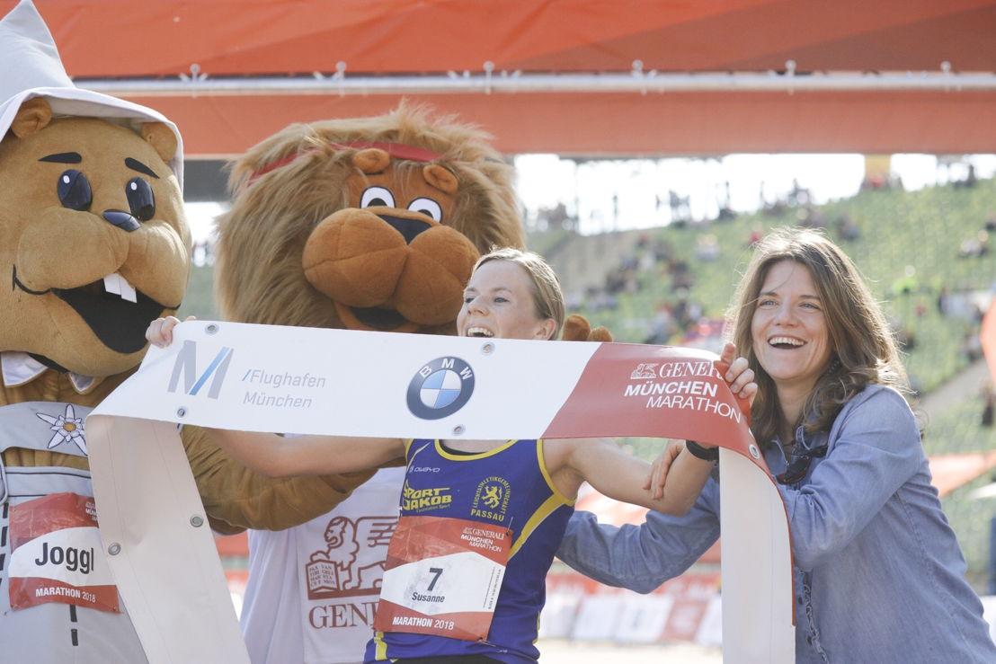 Siegerin Susanne Schreindl direkt nach dem Zieleinlauf